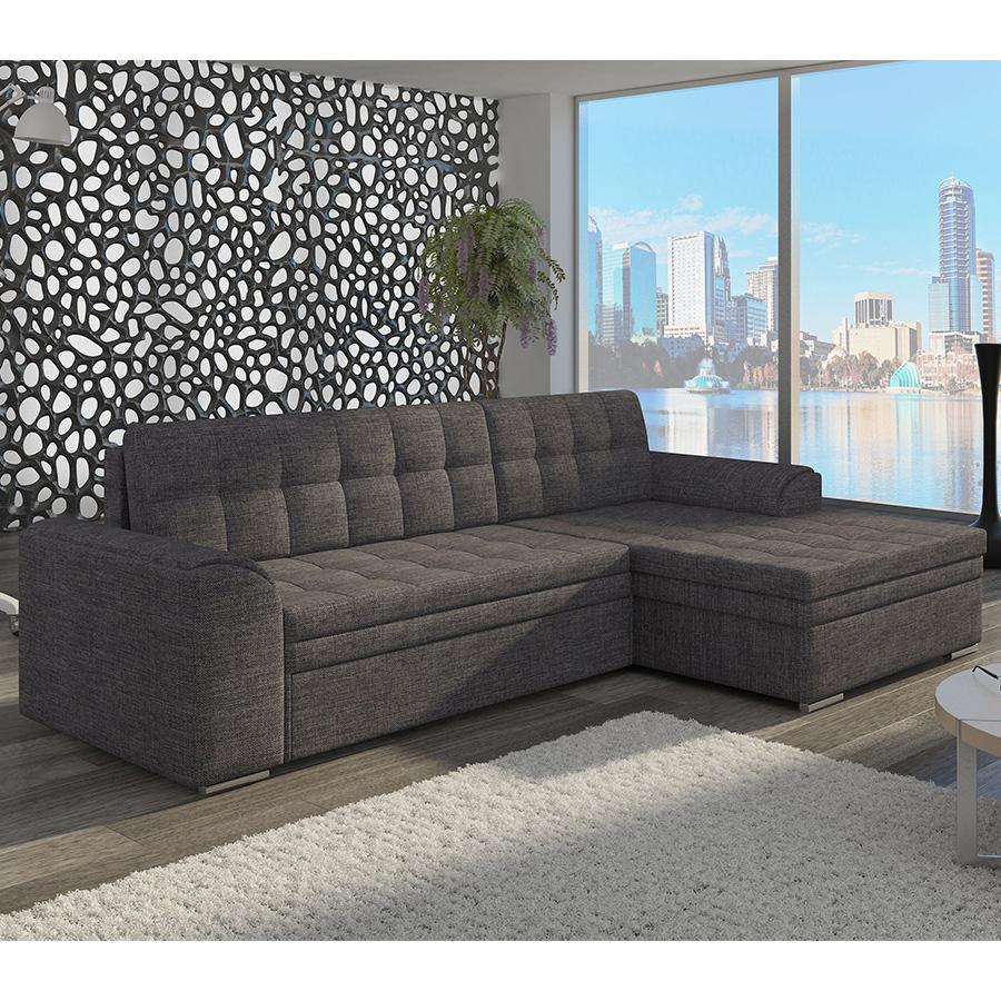 meuble de salon canapé canapé angle gris anthracite