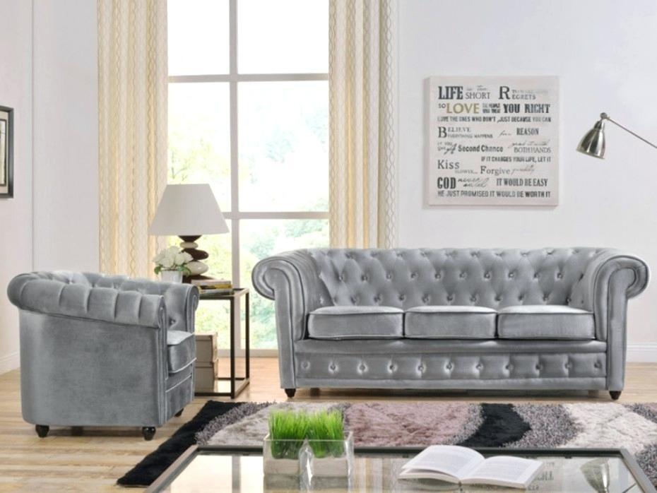Canape Chesterfield Velours Gris Dangle Chesterfield En