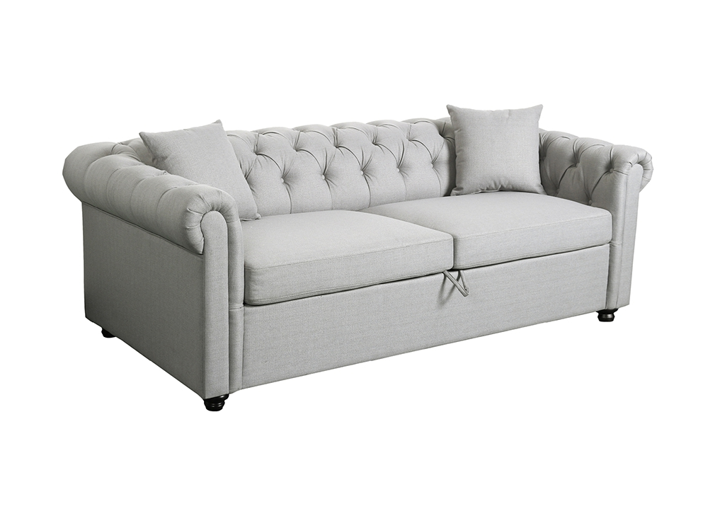 Canapé Convertible 3 places chesterfield ALFRED en tissu
