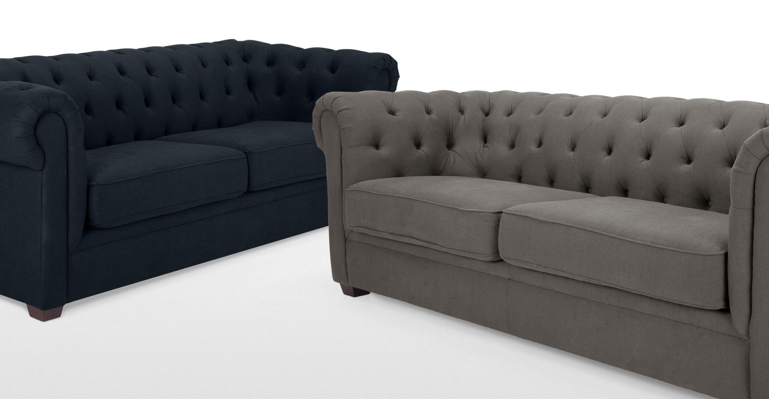 Mayson un canapé 3 places Chesterfield gris harrier