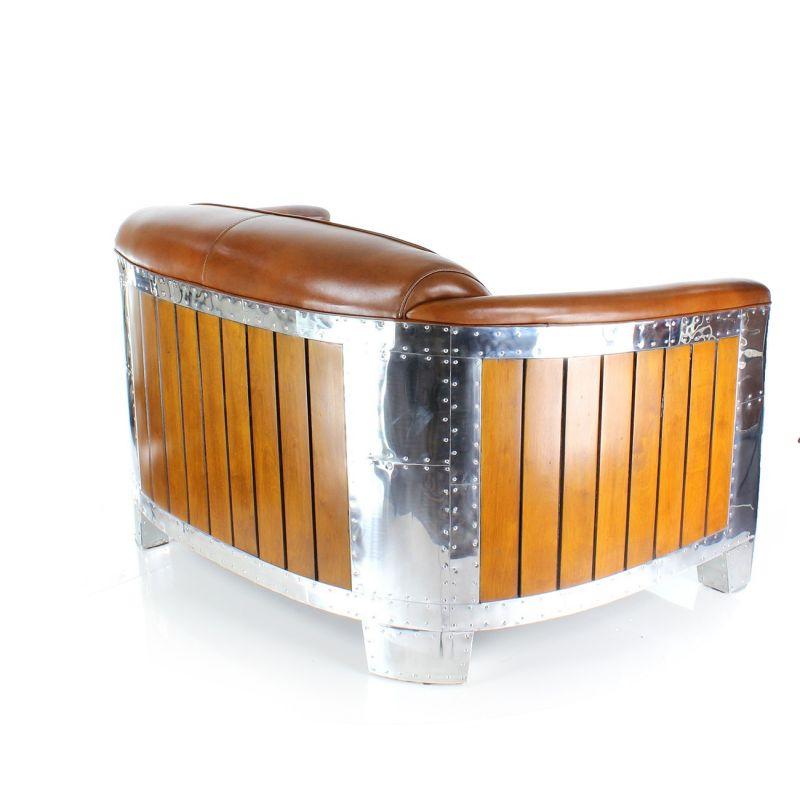 Canapé club cuir marron vintage Norman Saulaie