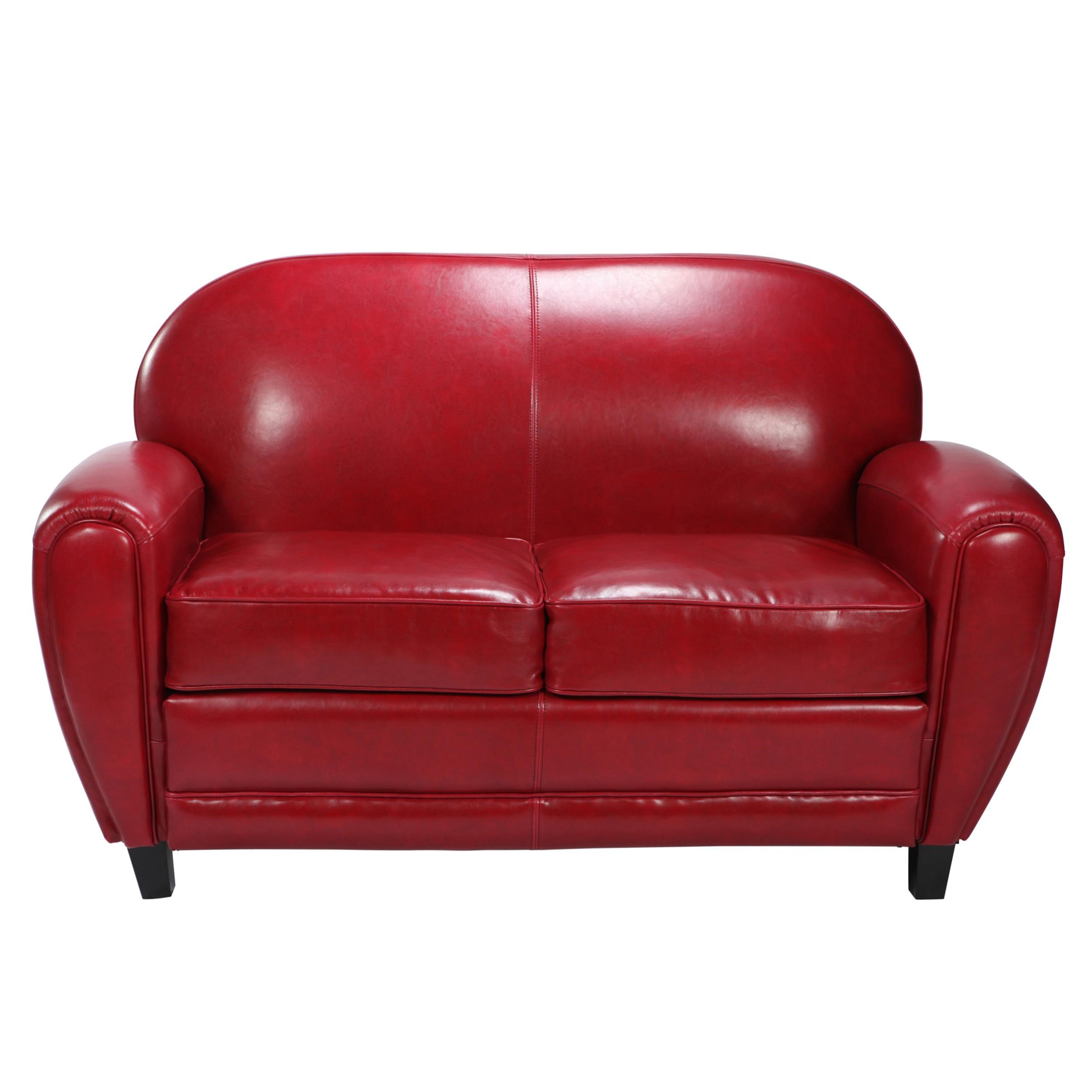 Canapé Club cuir rouge optez pour nos canapés club RDV