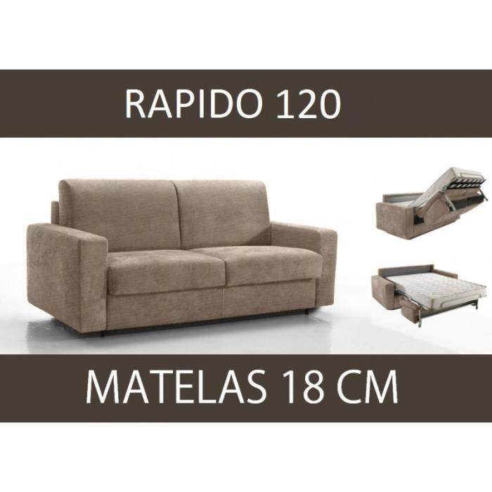Canapé lit 2 places MASTER convertible RAPIDO 120 cm