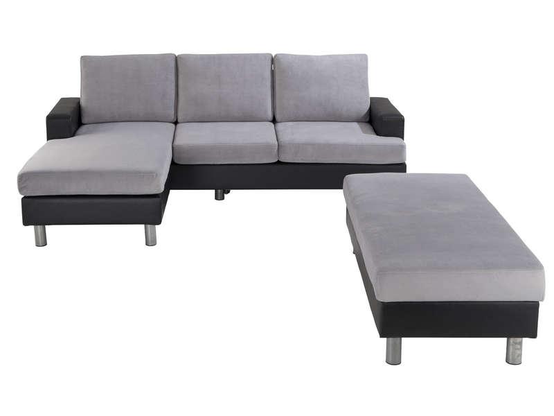 Canapé d angle convertible et réversible 3 places coffre