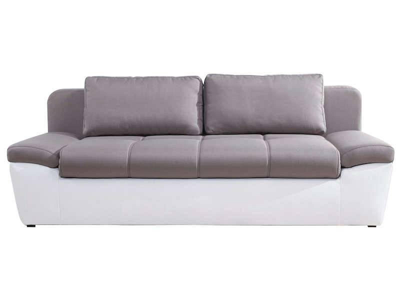 Conforama canapé convertible 3 places uno coloris blanc