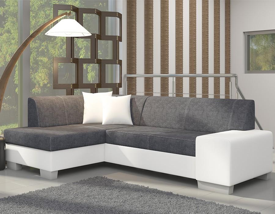 canapé d angle blanc et gris moderne