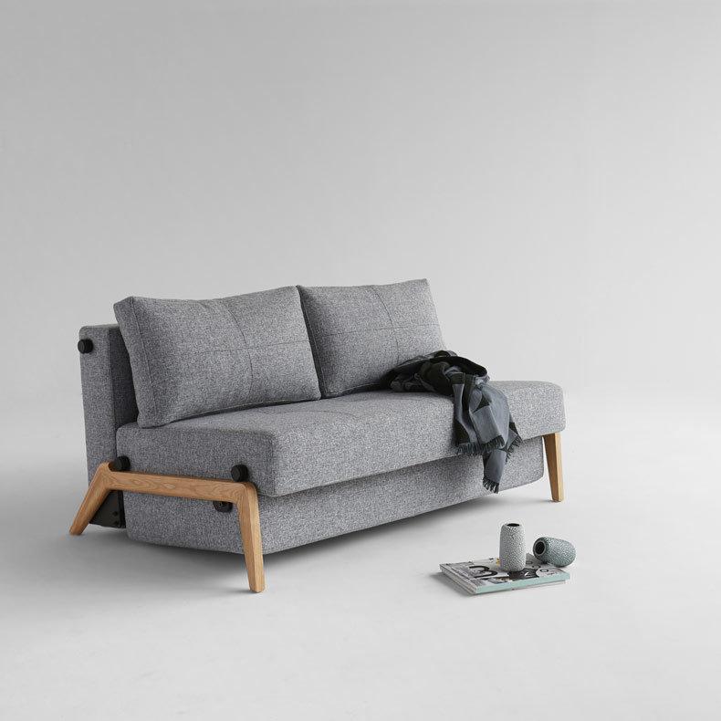 canapé lit pact de luxe CUBED WOOD 140 ou 160