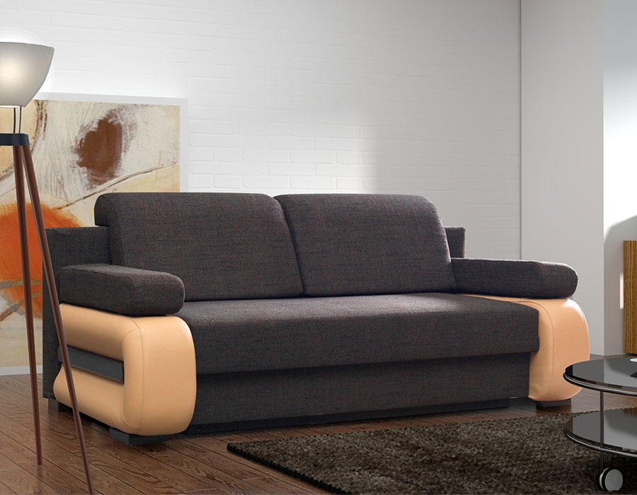 Canapé convertible contemporain avec coffre DELIA 2