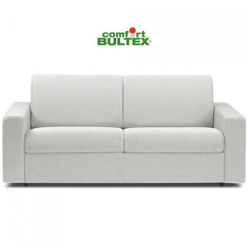 Canapé Convertible Blanc Simili Cuir