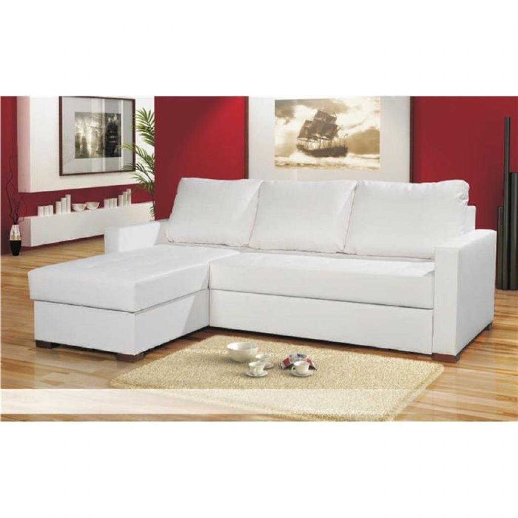 s canapé d angle convertible cuir blanc