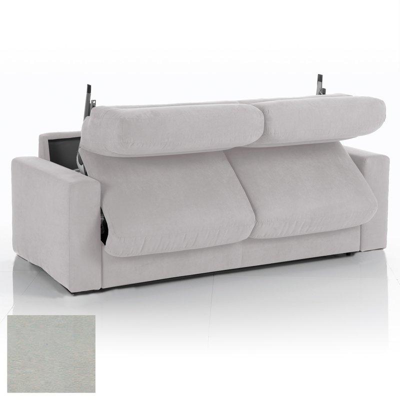 Canapé convertible 3 places maxi tissu déhoussable gris