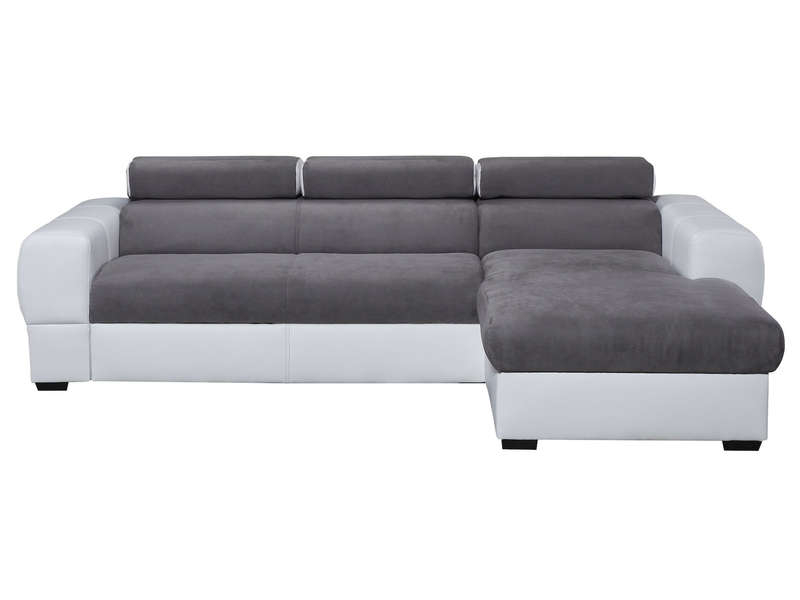 Canapé d angle droit convertible 5 places en tissu TRESOR