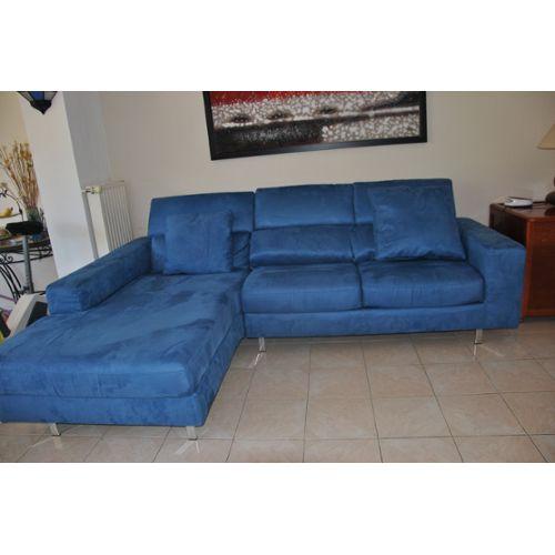 Canapé Convertible Electrique Canape D Angle Convertible Couleur Bleu Electrique Achat