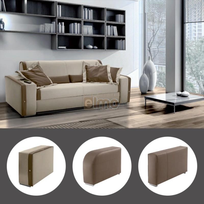 Canapé Convertible Electrique Canapé Lit Convertible Rapido électrique Cuir Bicolore 3