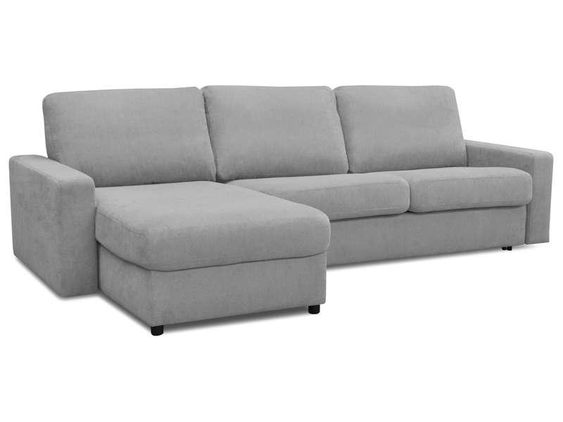 Canapé d angle convertible 4 places en tissu SAMIA coloris