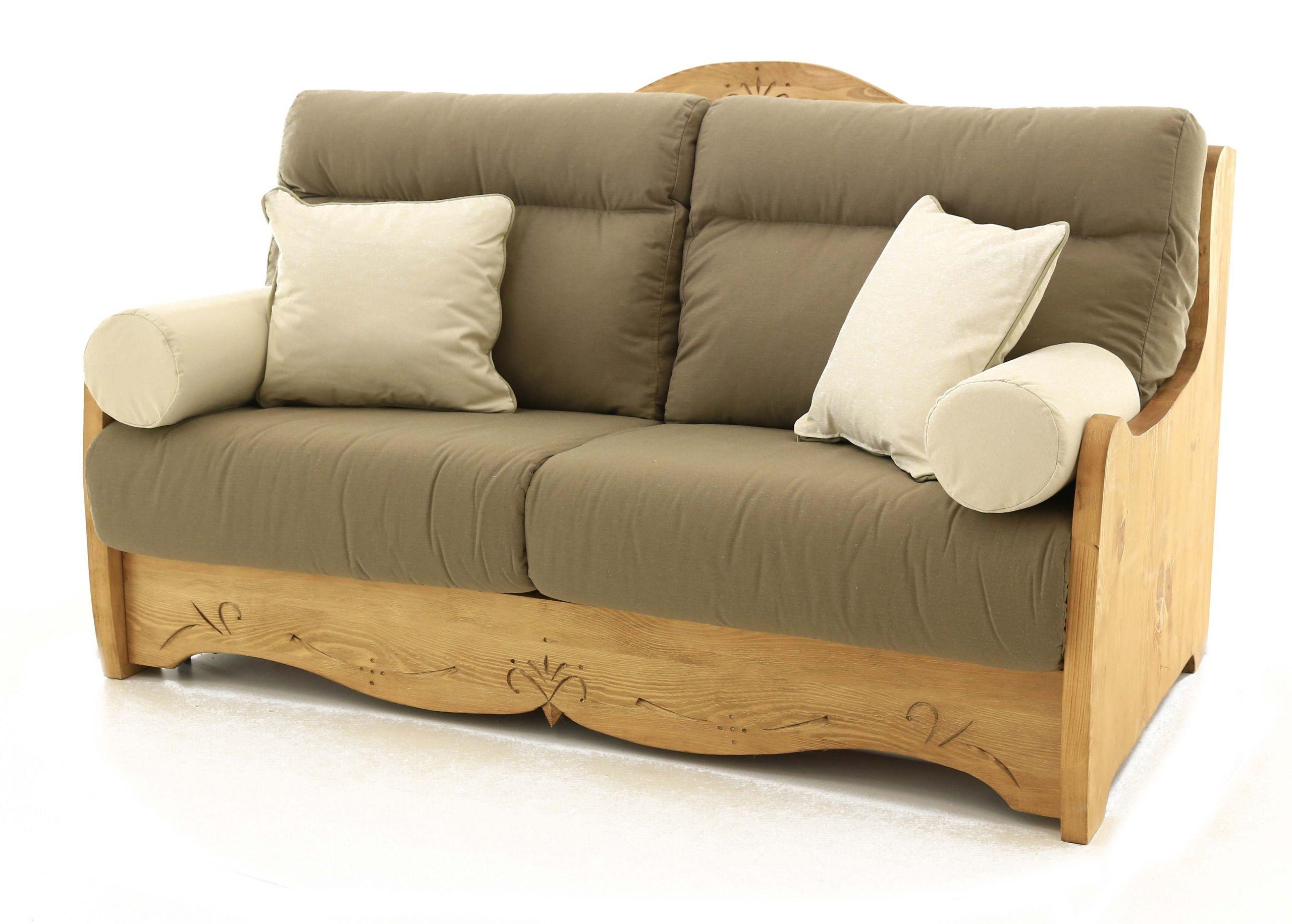 Canapé convertible 160 x 200 cm en pin massif Liso