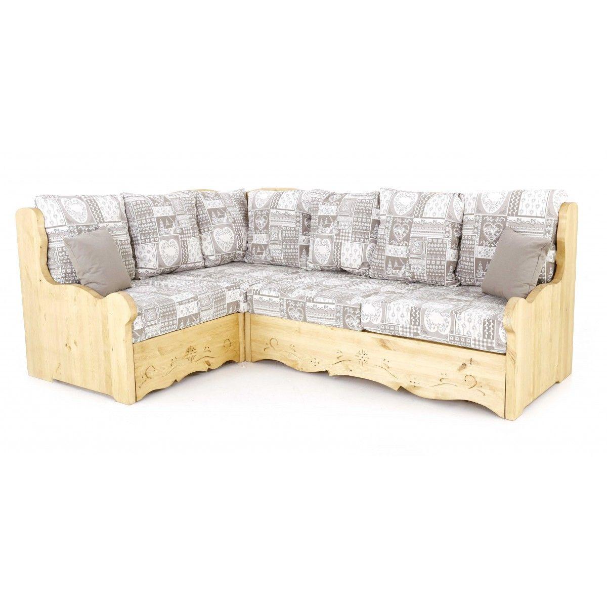 Canapé d angle montagne gris Canapé d angle chalet gris
