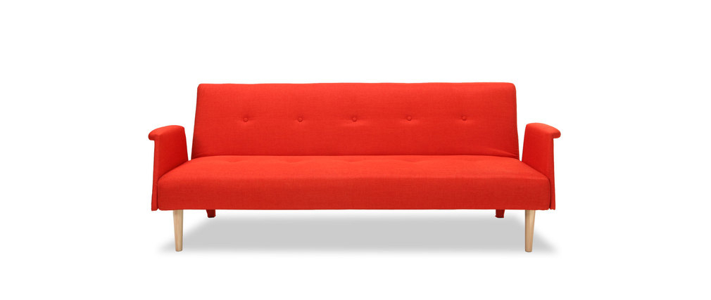 Canapé Convertible orange Canapé Design Convertible Rouge orangé Oscar Miliboo