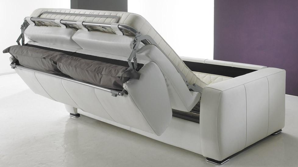 Canapé convertible en cuir 3 places lit 140 cm PROMO USINE