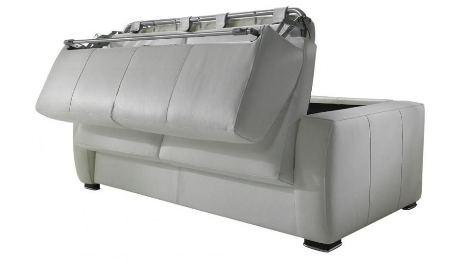Canapé Convertible Quotidien Canapé Lit En Cuir 2 Places Couchage 120 Cm [tarif Usine