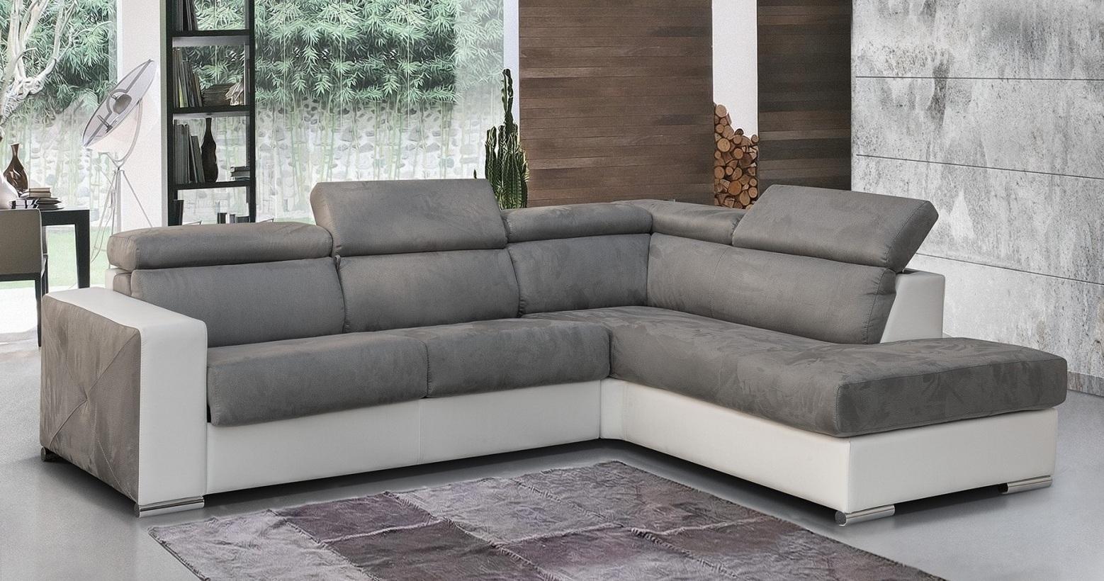 Canapé d angle Bi Matière avec convertible système RAPIDO