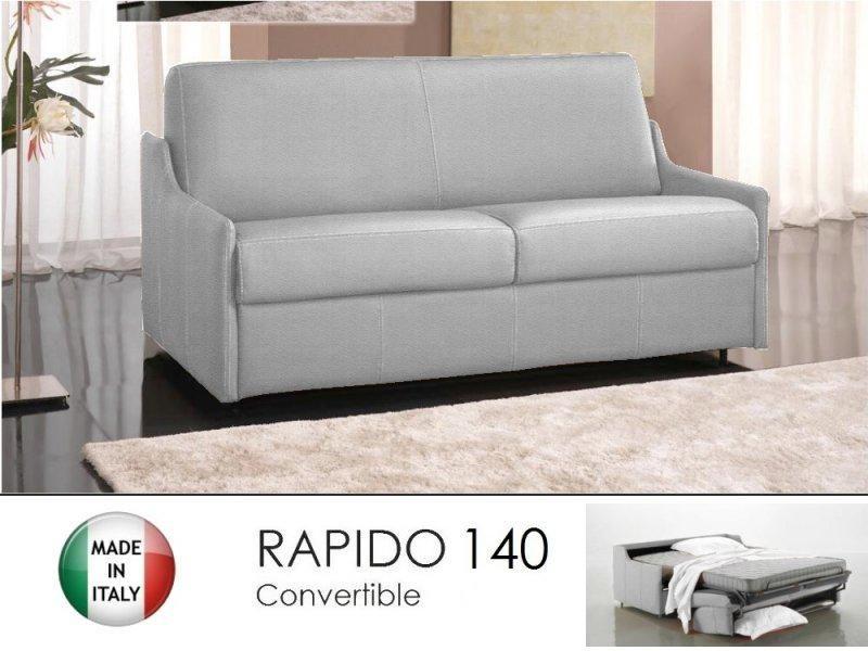 Canape lit 3 places luna convertible ouverture rapido