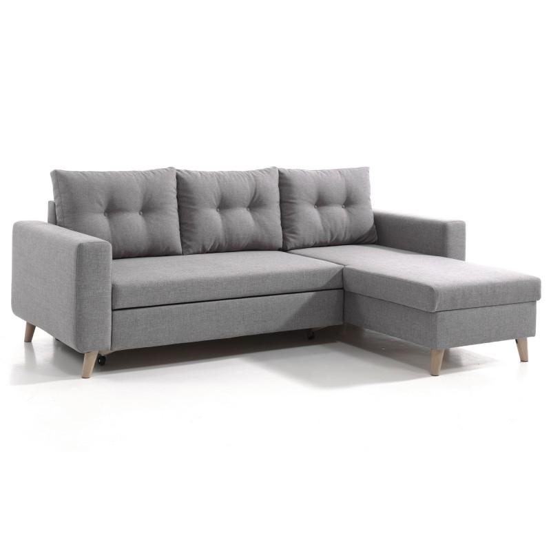 Nordic canapé d'angle scandinave gris clair réversible