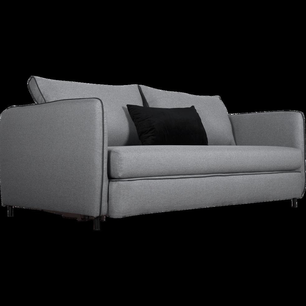 Canapé 3 places convertible en tissu gris borie SAOU