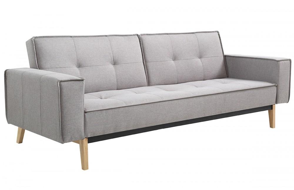 Canapé convertible design scandinave tissu gris Pièce à