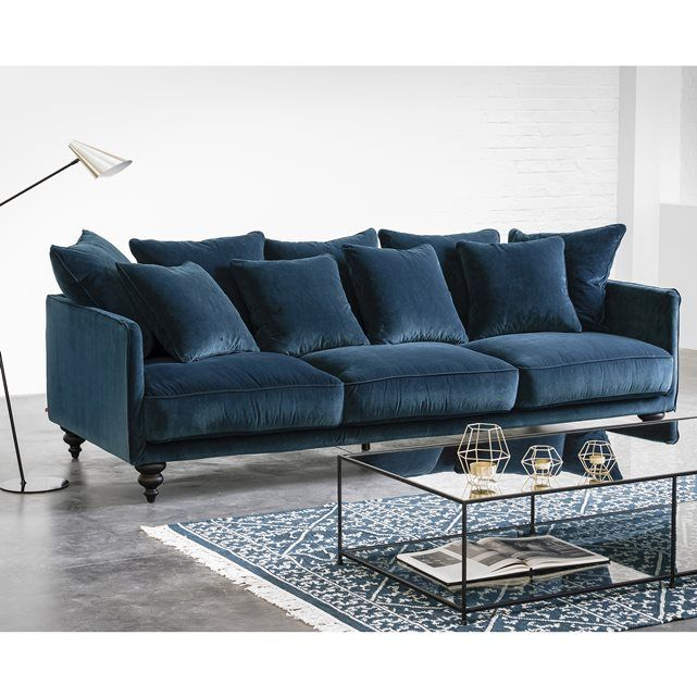 Canapé convertible velours bleu Maison et mobilier d