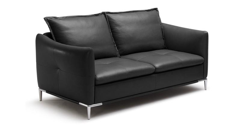 Canapé cuir Halden 2 places pieds acier inoxydable