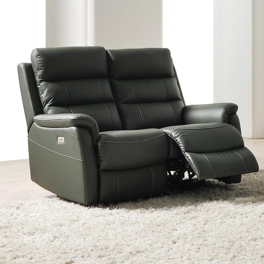 Canape en cuir 2 places relax électrique