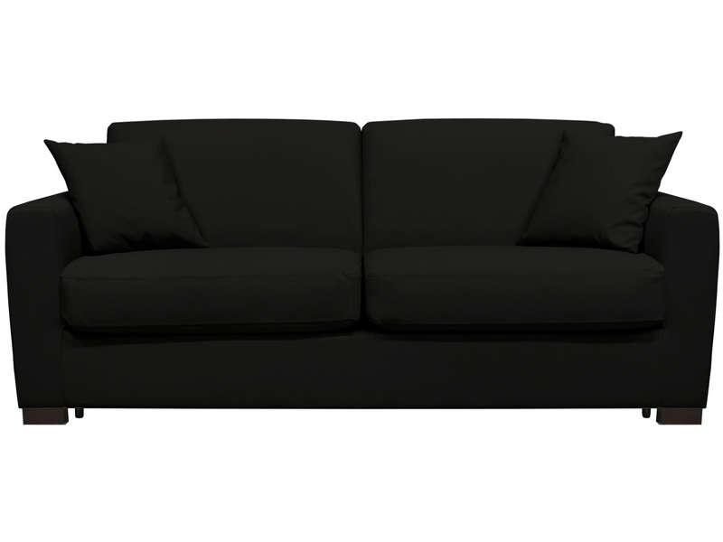 Canapé convertible 3 places en cuir SOFLIT 2 coloris noir