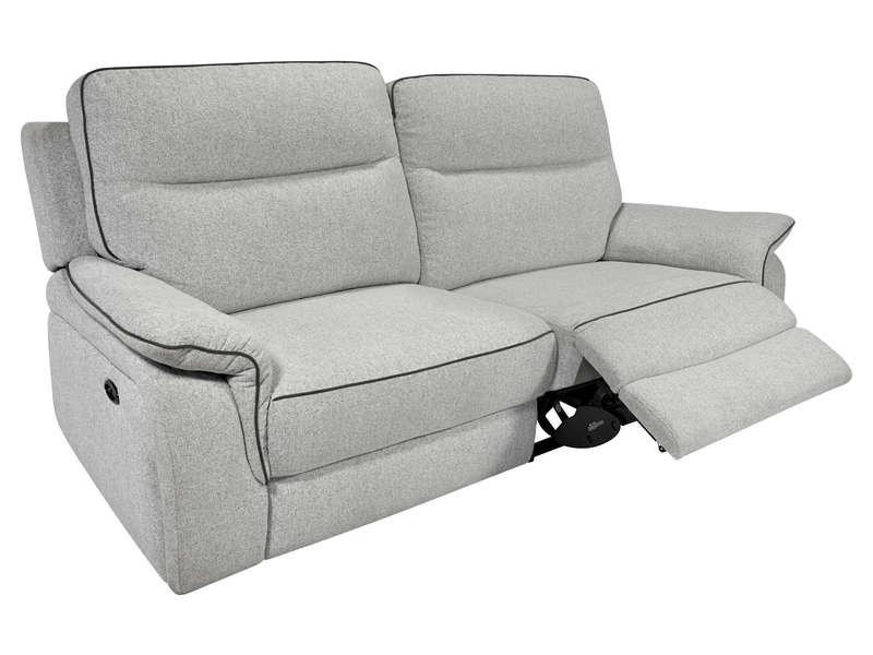 Canapé de relaxation électrique 3 places HARLOW coloris
