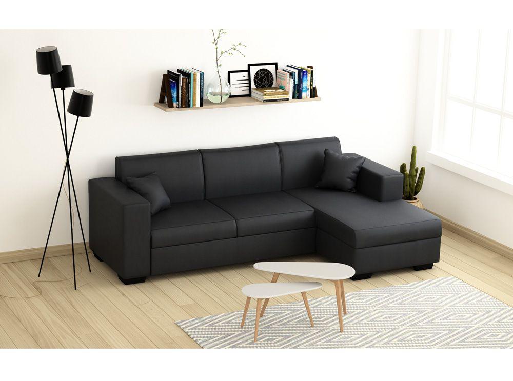 Canapé Cuir Angle Convertible Canapé D Angle Convertible Simili Cuir écolo Et économique