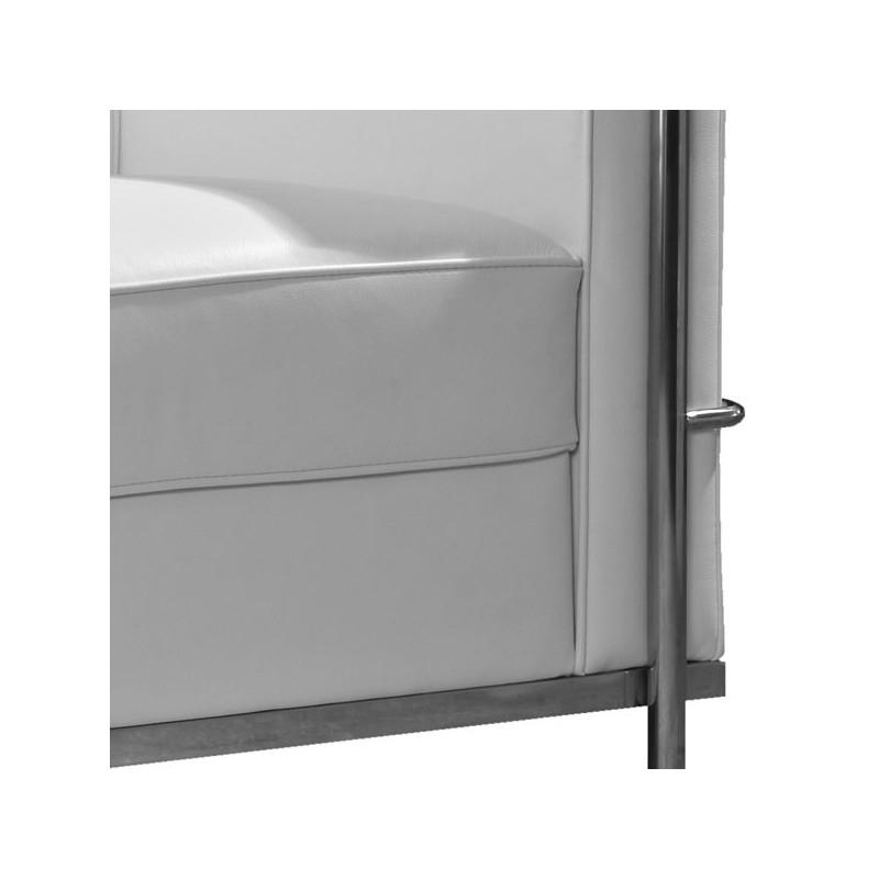 Canapé Cuir Blanc 2 Places Canapé 2 Places Cuir Blanc Inox Moderne Design Corbs