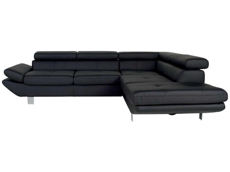 Canape Angle Simili Cuir Noir Conforama