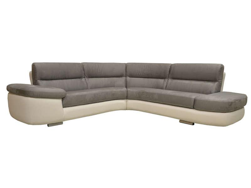 Canapé d angle fixe droit 4 places ALBAN coloris blanc