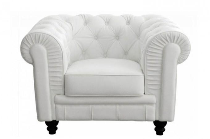 Fauteuil cuir blanc conforama – Meuble de salon contemporain