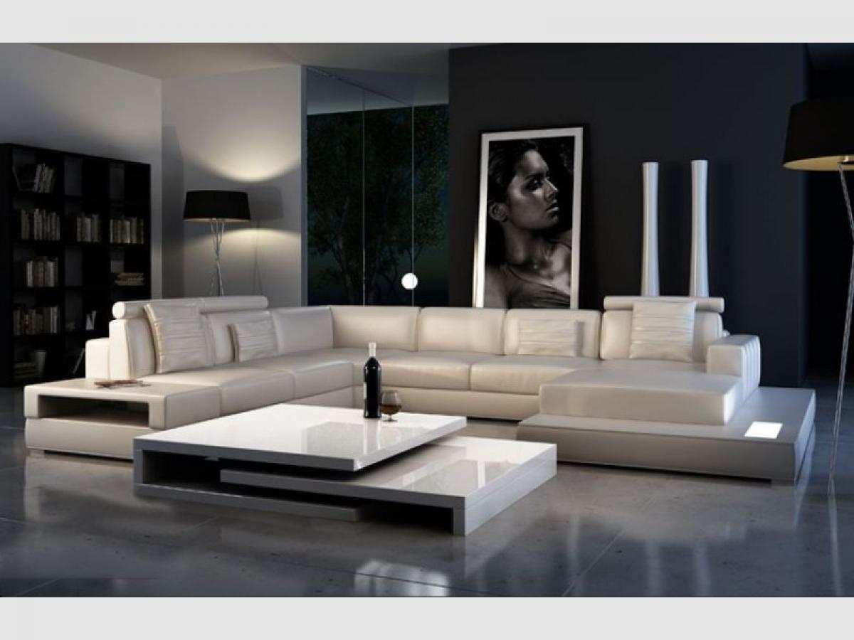 s canapé d angle cuir blanc conforama