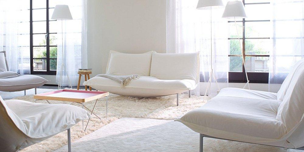 Canapé blanc notre shopping plètement design Marie