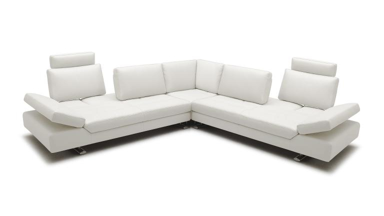 Canape d angle relax XXL en cuir contemporain Minho