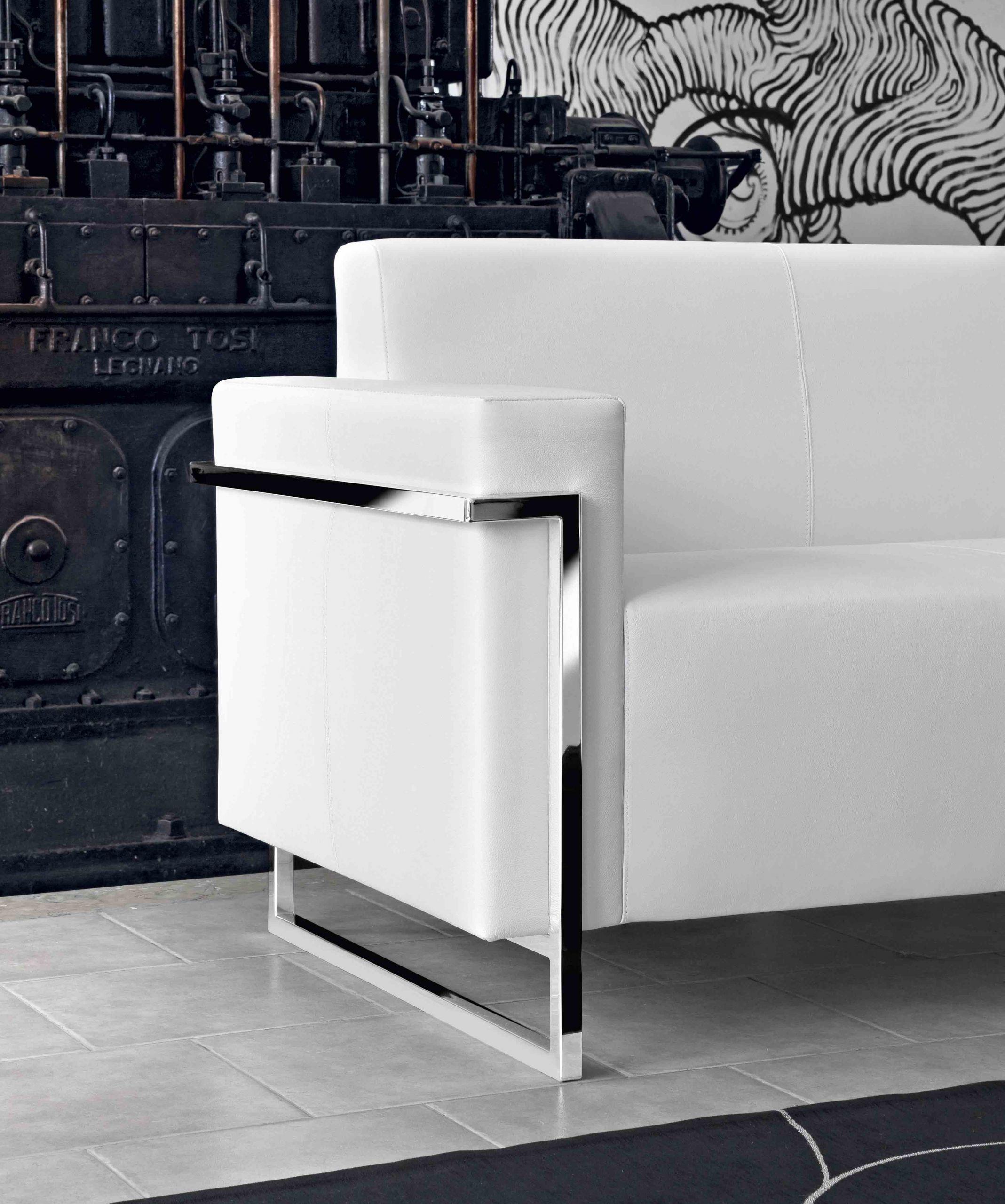 Memoria Canapé 2 places en cuir Blanc MonBureauDesign