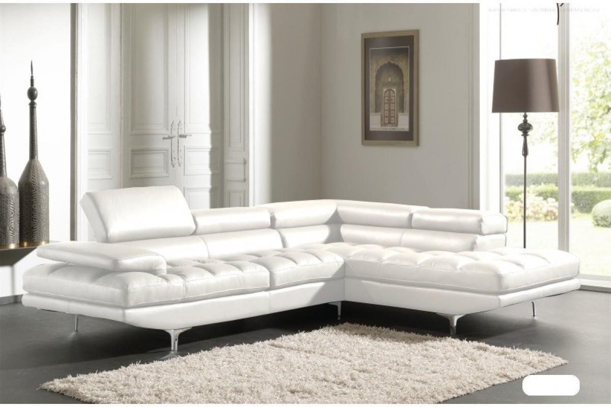 s canapé d angle cuir blanc design
