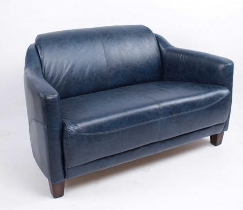 Canape Cuir Bleu Canape Vintage Oxford En Cuir Bleu Demeure Et