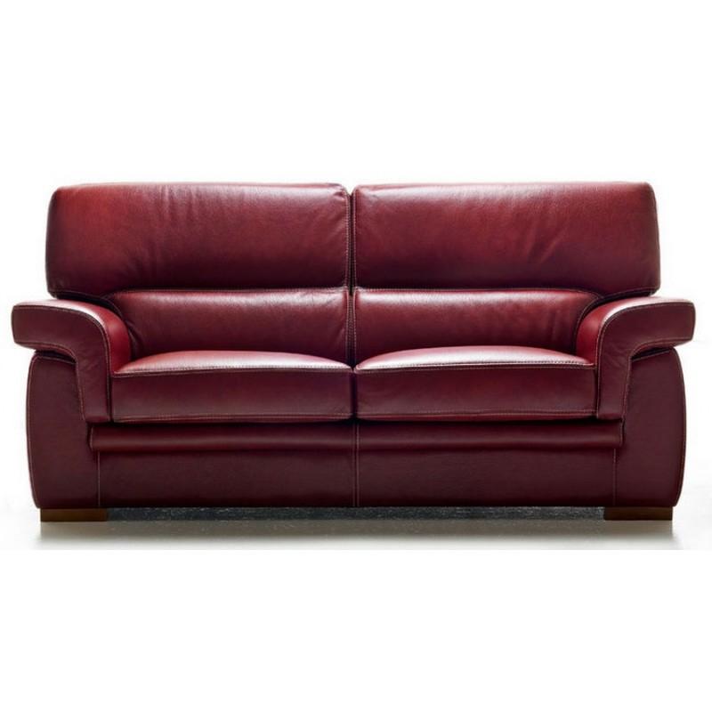 canapé 3 places cuir bordeaux prix bas
