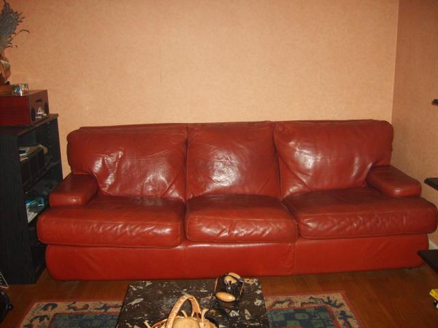 canape cuir 3 places 2 fauteuils couleur bordeaux
