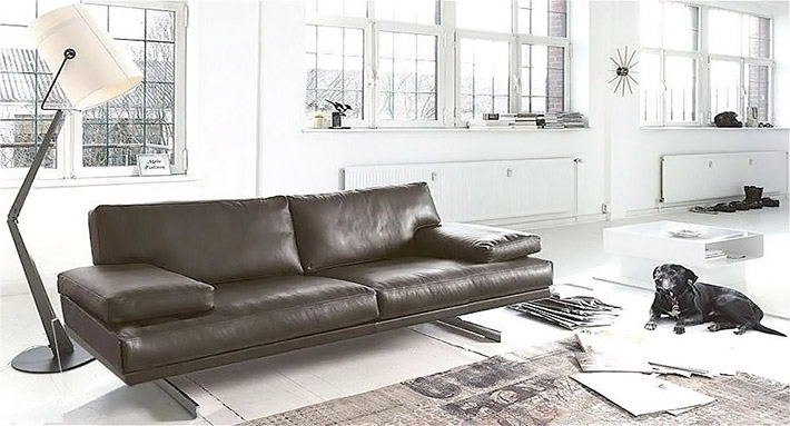 Canapé en cuir contemporain Bordeaux