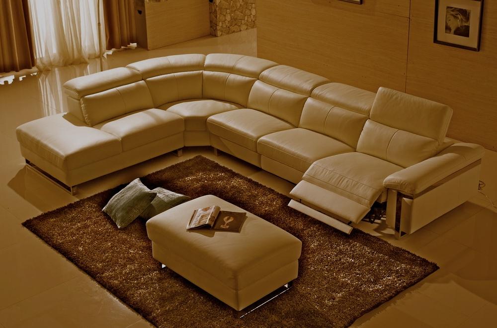 Canapé d angle relax en cuir buffle italien de luxe