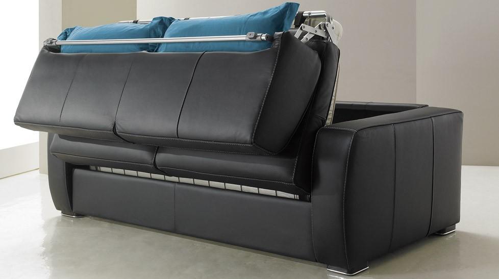 Canape Cuir but Canapé Convertible En Cuir 3 Places Lit 140 Cm Promo Usine